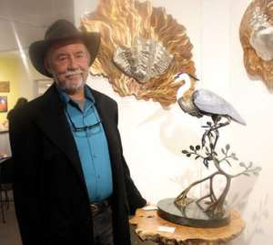 Bill Hunt with Heron