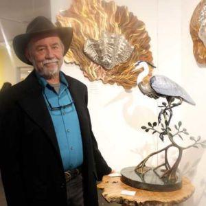 Bill Hunt with Heron