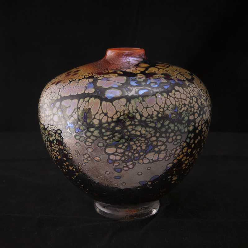 Kelly Howard blown glass vessel from Jennifer Sears Studios