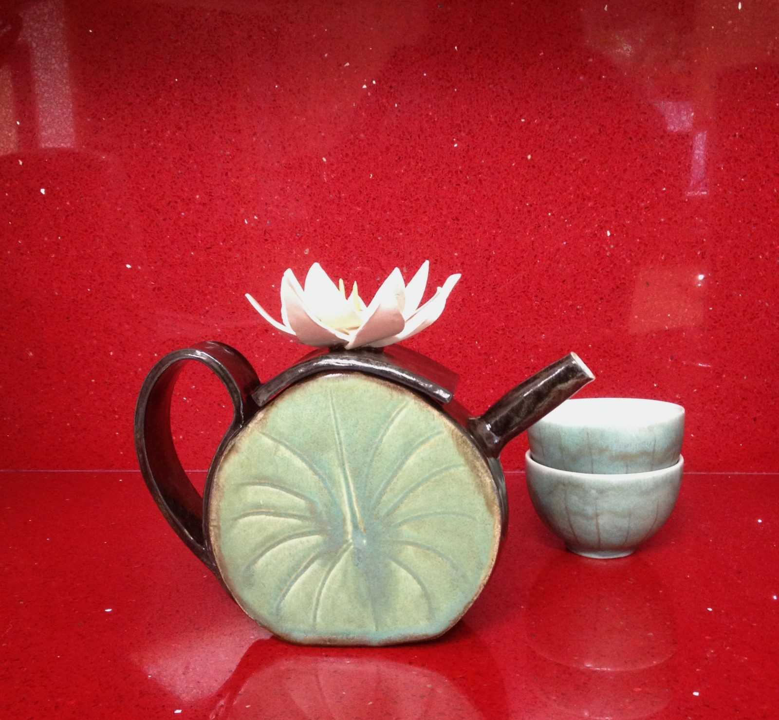 Water lily teapot by Sam Jacobson