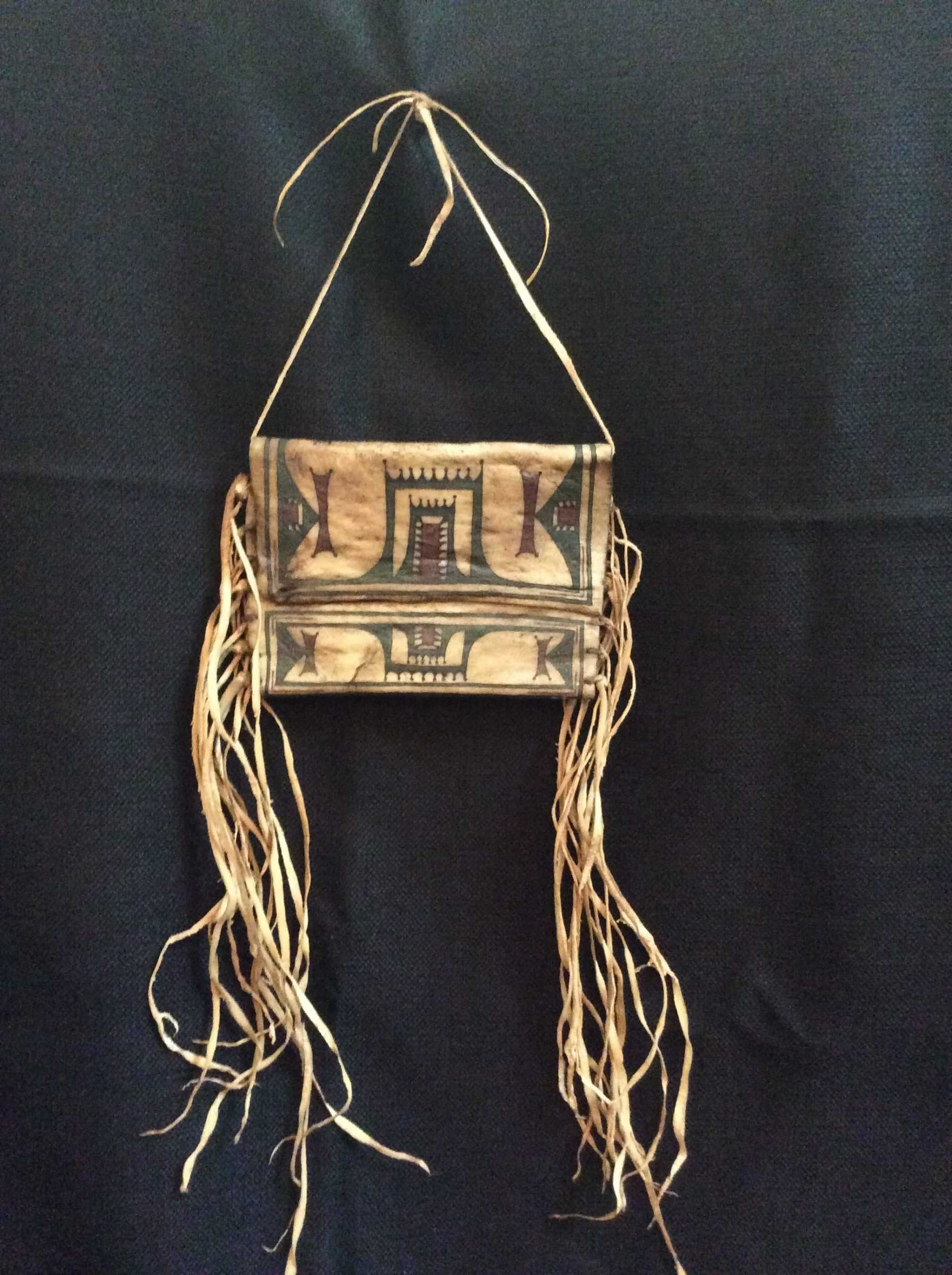 Native American design bag with fringe