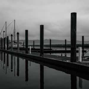 Photograph of Newport Bay Black and White