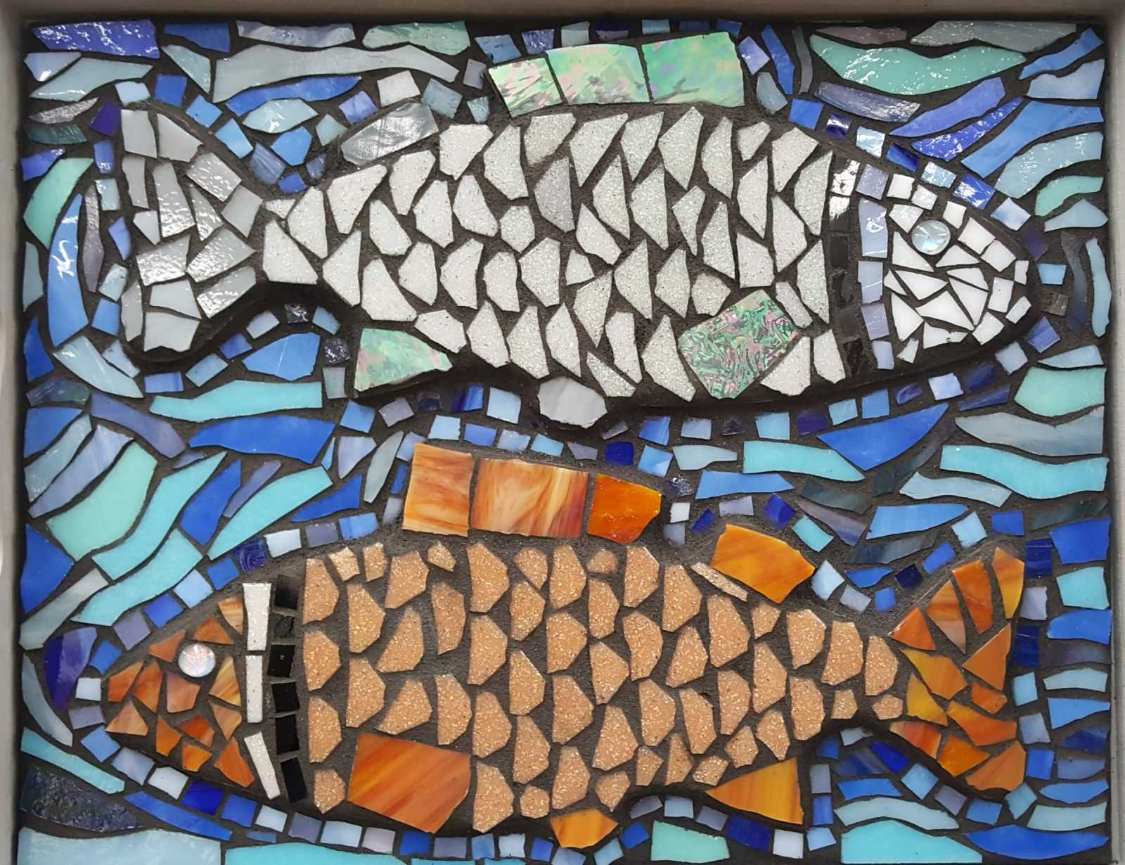 fish mosaic art