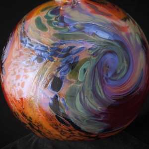 kelly Howard glass float swirl pattern