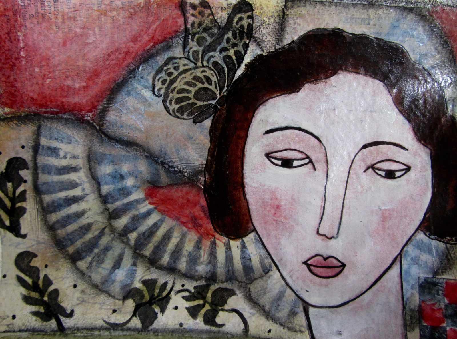 Maria Esther- Sund mixed media painting
